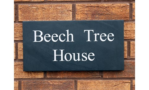 Welsh Slate House Sign - 200mm x 400mm x 20mm